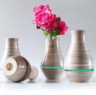 Hand Made Wooden Vase