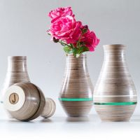 Hand Made Wooden Vase