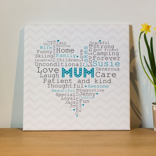 Heart Word Canvas Mothers Day