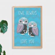 Owl Always Love You Wall Art Print - Not Framed