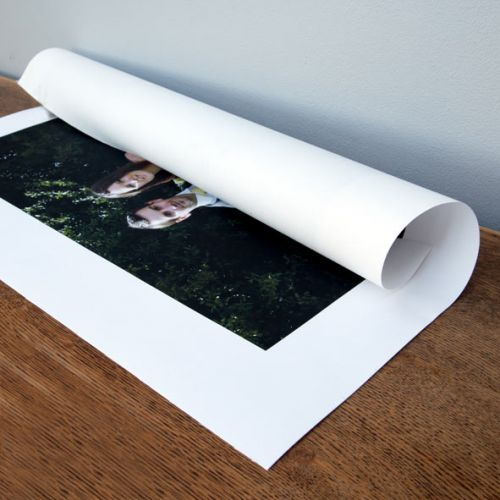 Your Photo Printed on Canvas - rolled + extra canvas for mounting