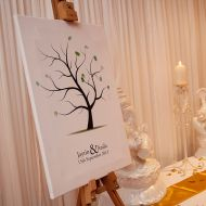 Wedding Finger Print Tree Canvas